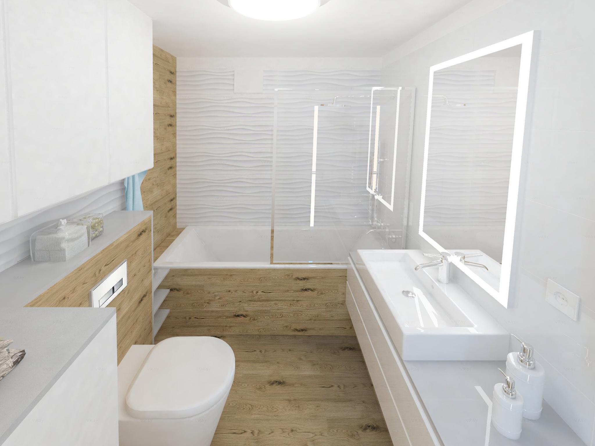łazienka W Drewnie I Bieli Zuzanna Sikora